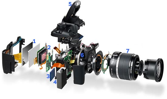 Canon Digital Camera Exploded View