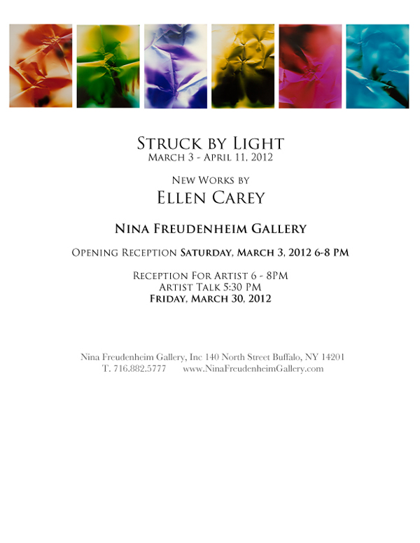 Ellen Carey, Struck By Light, Color Photograms