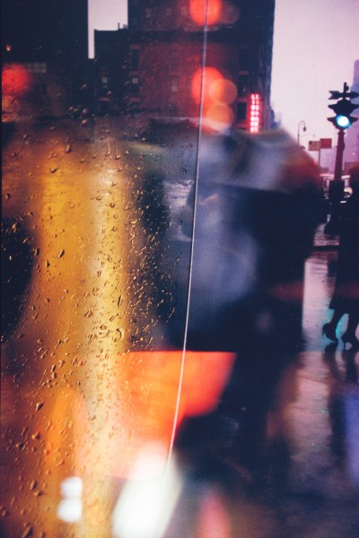 Saul Leiter, Walk with Soames, Color Photograph, 1958