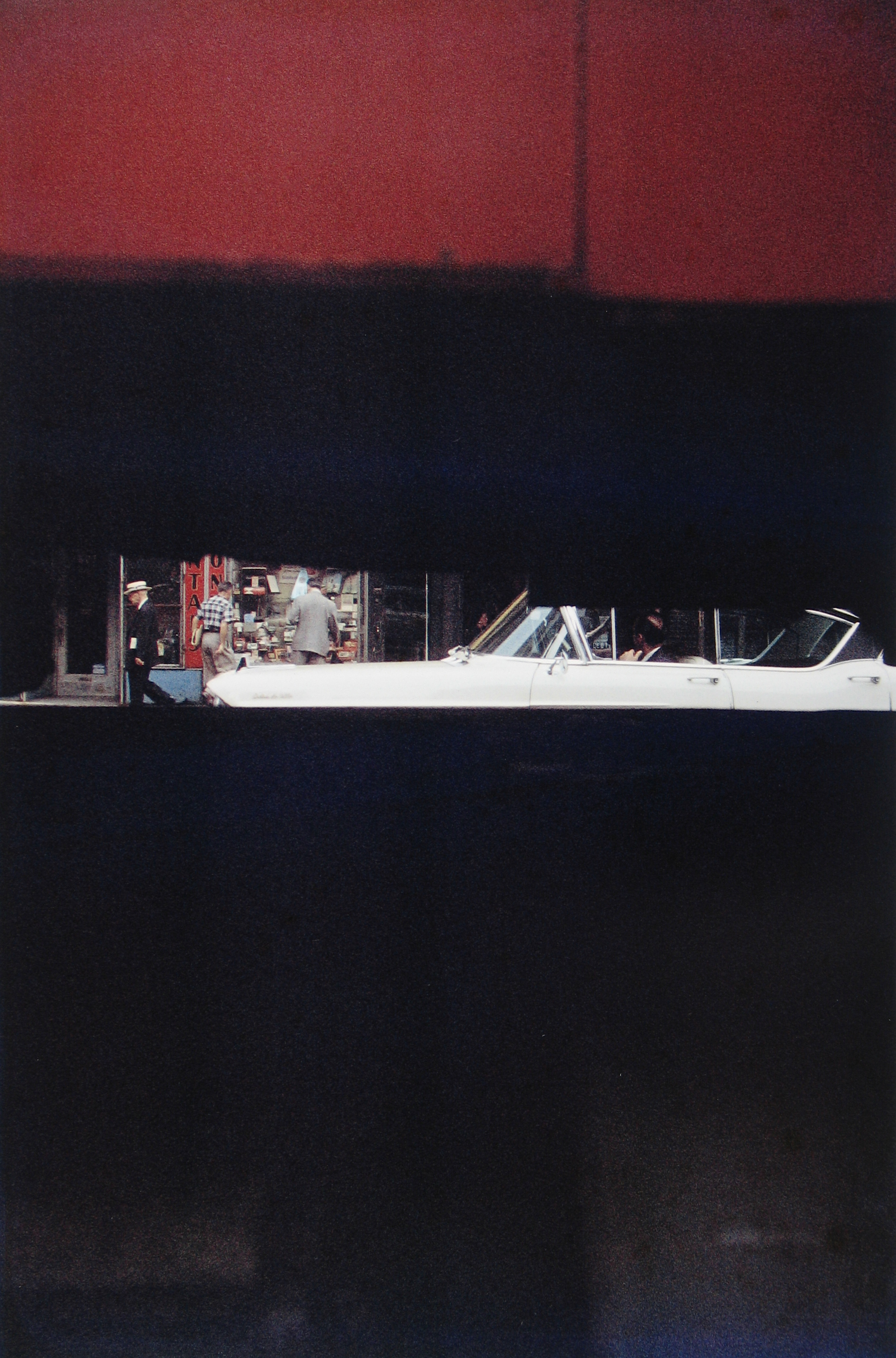 Saul Leiter, Through Boards, Color Photograph, 1957