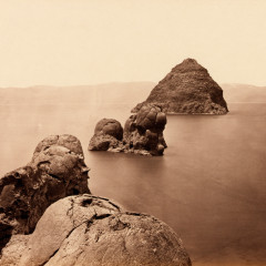 Timothy O'Sullivan, The Pyramid and Domes, Pyramid Lake, Nevada, 1867
