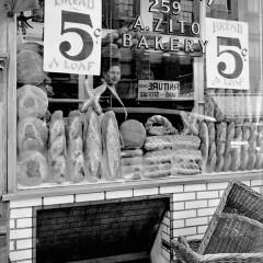 Bernice Abbott, Bread Store, 259-Bleecker Street, 1937