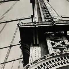 Bernice Abott Manhattan Bridge Looking Up, 1936