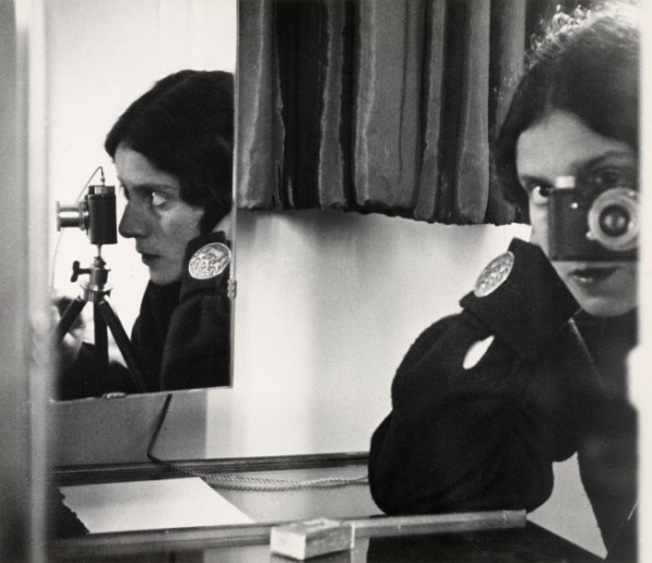 Ilse Bing, Self Portrait In Mirrors, Black & White Photograph, 1931