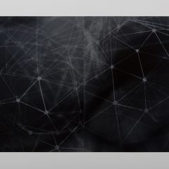 Web, Photogram on metallic gelatin silver paper, Aric Attas