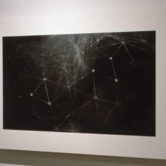 Web, Photogram on metallic gelatin silver paper, Aric Attas - Side View