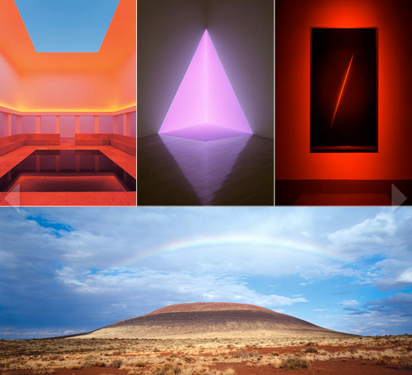 Images of work by James Turrell
