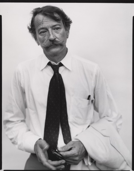 "Richard Avedon, John Szarkowski, Curator, New York, July 30, 1975, Gelatin silver print, 9 13/16 x 7 9/16"" (25 x 19.3 cm). Sitter: John Szarkowski. Gift of Mr. and Mrs. Alfred R. Stern. © 2013 The Richard Avedon Foundation"