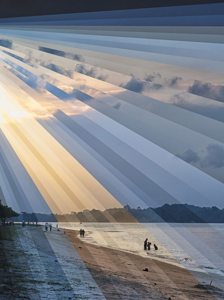 Fong Qi Wei, Changi Beach Sunset, Color Photograph, 2013