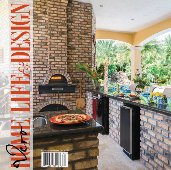 Outdoor kitchen cover photo for Vero Home, Life & Design Magazine by Aric Attas.