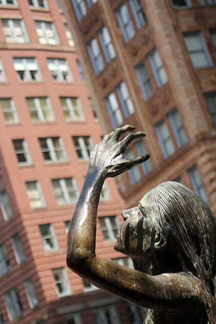 Laurie Young, Irish Famine Memorial, Boston, MA, Color Photograph, 2013