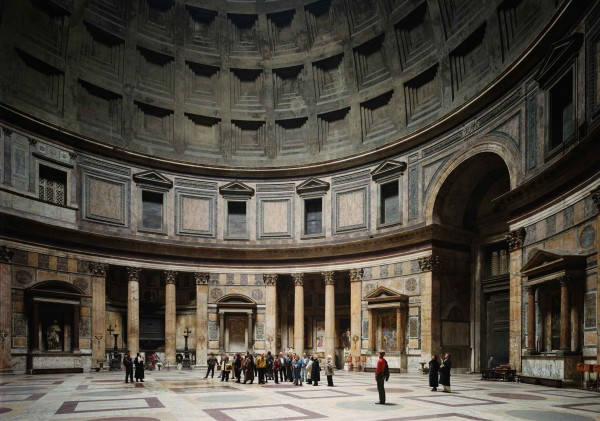 Thomas Struth, Pantheon, Rome, Color Photograph, 1990