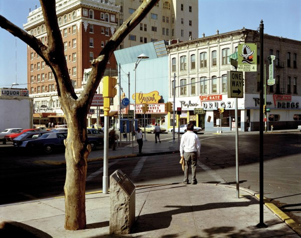 Stephen Shore, El Paso Street, Color Photograph, El Paso Texas, 1975