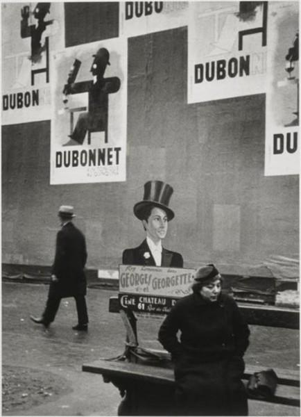 Andre Kertesz, Dubo, Dubon, Dubonnet, Paris, Black & White Photograph, 1934
