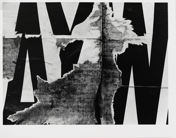Aaron Siskind (1903–1991), New York 7, 1950. Gelatin silver print, 10 7/8 × 13 7/8in. (27.6 × 35.2 cm). Whitney Museum of American Art, New York; purchase, with funds from the Photography Committee 96.63. Photograph by Robert Gerhardt