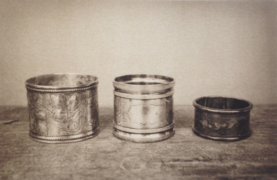 LISA BLAIR, Mary Belle's Napkin Rings, 7 x 9.5 inches, framed Platinum / Palladium print, edition 5