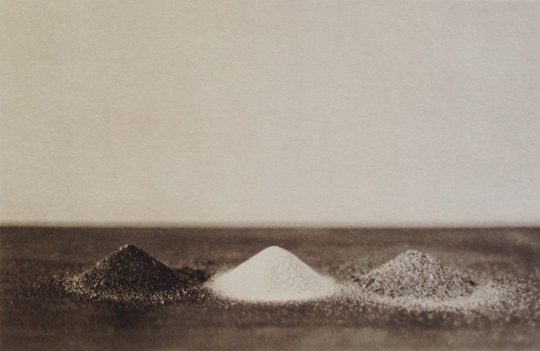 LISA BLAIR, Three Sands, 2013 (Atalaya, White Sands, Glenburnie,) 7 x 9.5 inches, framed Platinum / Palladium print, edition 5