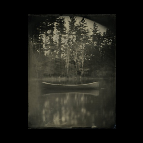 CURTIS WEHRFRITZ, Lost Canoe, 11 x 14 inches, Wet Plate Collodion